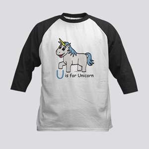 U is for Unicorn Kids Baseball Jersey