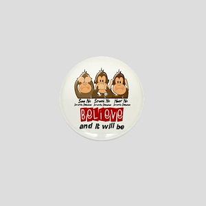 See Speak Hear No Juv Diabetes 3 Mini Button