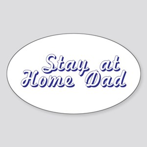 Stay at Home Dad Oval Sticker