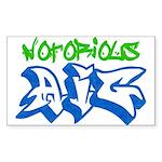 Notorious AIG Rectangle Sticker