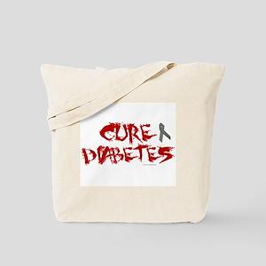 Cure Diabetes Graffiti Red Tote Bag