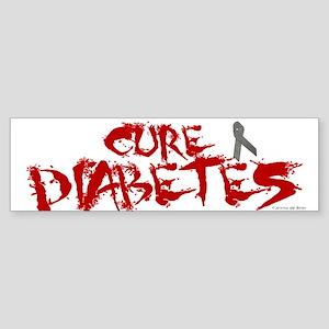 Cure Diabetes Graffiti Red Bumper Sticker