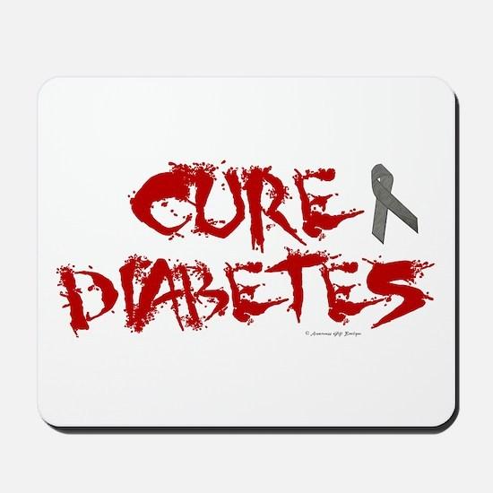 Cure Diabetes Graffiti Red Mousepad