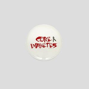 Cure Diabetes Graffiti Red Mini Button