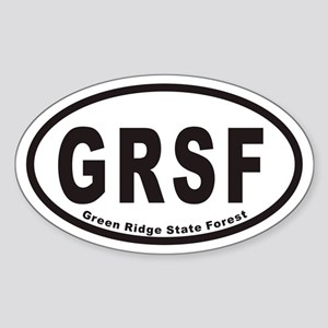 Green Ridge State Forest GRSF Euro Oval Sticker