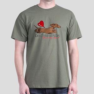 Dachshund Holiday Black T-Shirt