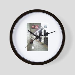Lonely New York City Subway Wall Clock