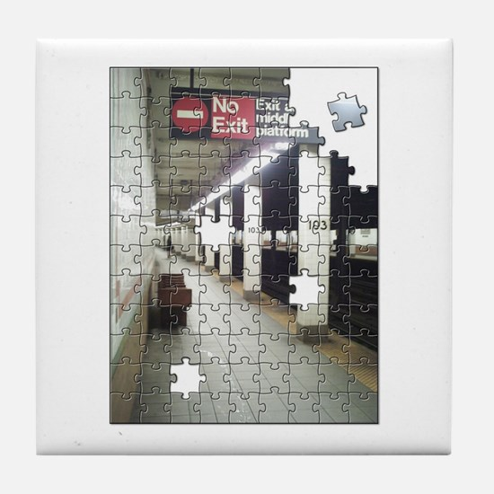 Lonely New York City Subway Tile Coaster