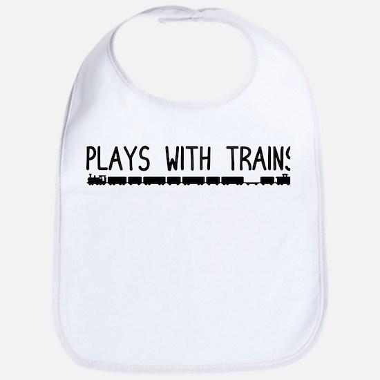 Plays With Trains Bib