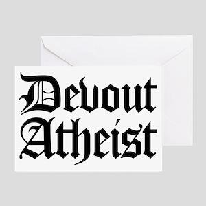 Atheist greeting cards cafepress devout atheist greeting card m4hsunfo