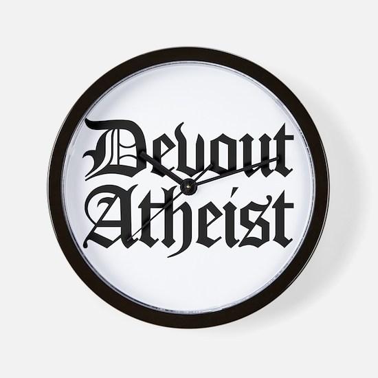 Devout Atheist Wall Clock
