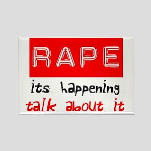 Rape Awareness Rectangle Magnet