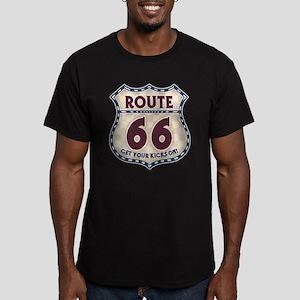 Retro Vintage Rte 66 Men's Fitted T-Shirt (dark)