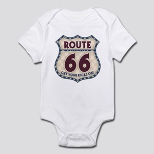 Retro Vintage Rte 66 Infant Bodysuit