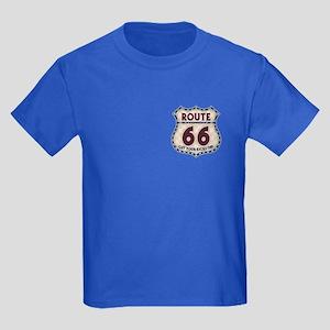 Retro Vintage Rte 66 Kids Dark T-Shirt