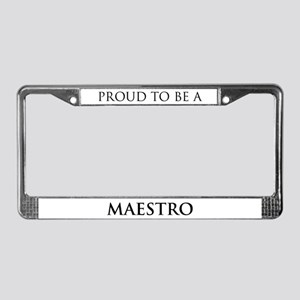 Proud Maestro License Plate Frame