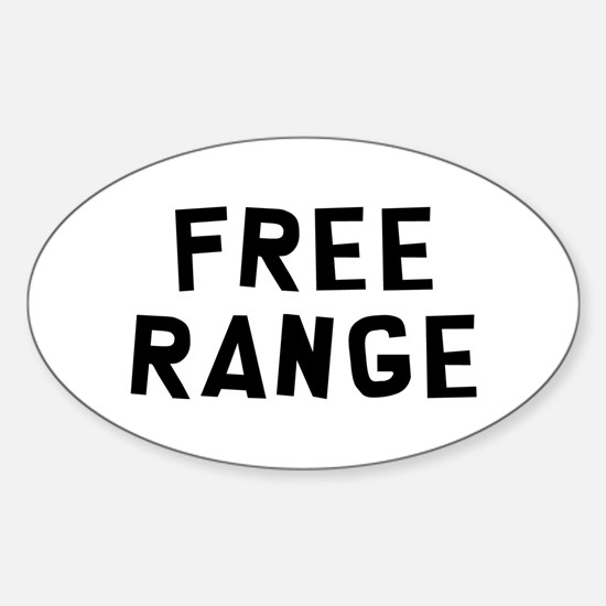 Free Range Sticker (Oval)