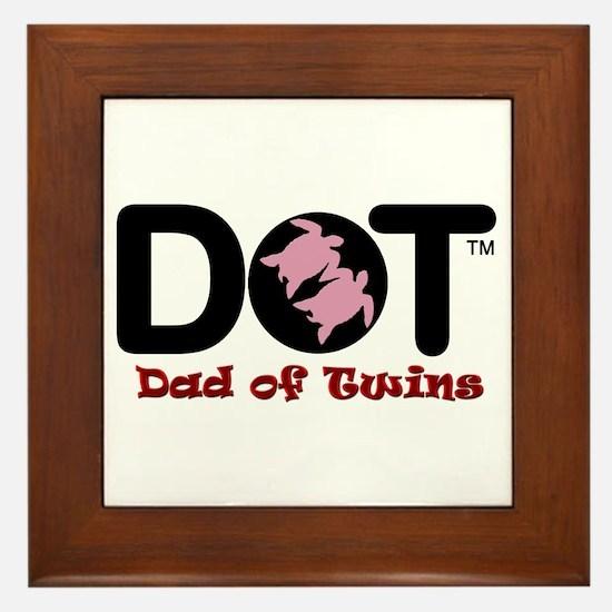 Dad of [Female] Twins Framed Tile