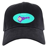 Amanda Personalized Key Flower Black Cap / Hat