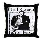 Jazz Fest Gulf Coast Throw Pillow