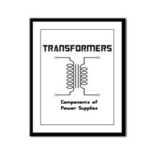 Transformers Components of Power Supplies Framed P