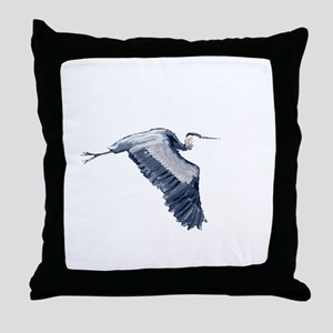 heron design Throw Pillow