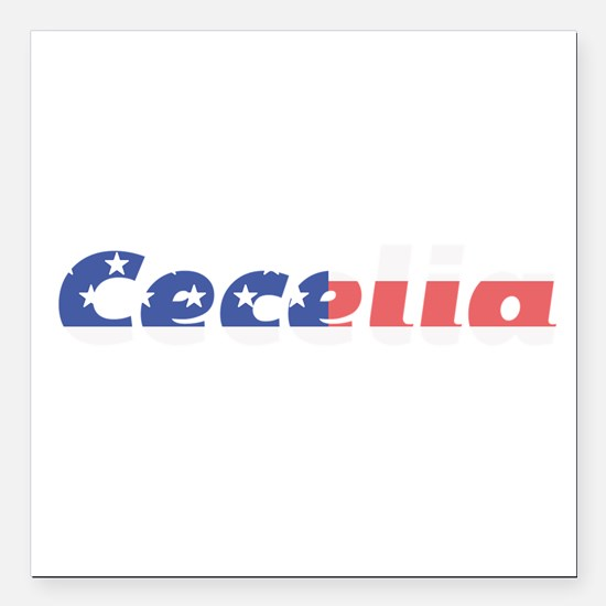 "Cecelia Square Car Magnet 3"" x 3"""
