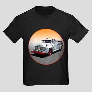 The Big Job Firetruck Kids Dark T-Shirt