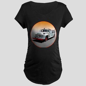 The Big Job Firetruck Maternity Dark T-Shirt