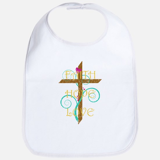 Faith Hope Love Bib