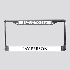 Proud Lay Person License Plate Frame
