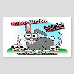 Rabid Rabbit Rectangle Sticker