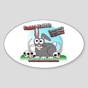 Rabid Rabbit Oval Sticker