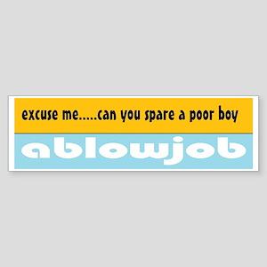 Spare a BJ Bumper Sticker