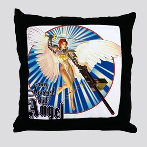 My Sweet Lil' Angel Throw Pillow