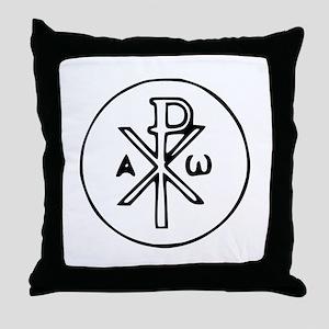 Chi Rho Throw Pillow