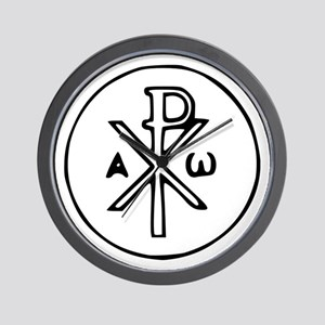 Chi Rho Wall Clock
