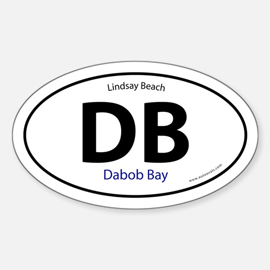 DB Dabob Bay Lindsay Beach Oval Sticker -White
