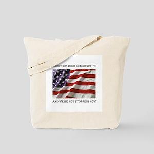 Guns, Religion, Babies Tote Bag