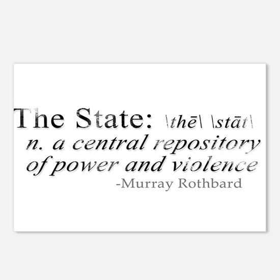 Definition of The State by Rothbard Postcards (Pac