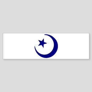 Crescent - Star Bumper Sticker