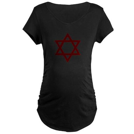 Star of David - Judaism Maternity Dark T-Shirt