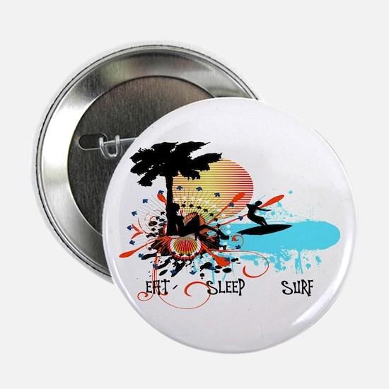 """Eat Sleep Surf 2.25"""" Button"""