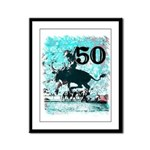 50th Birthday Framed Panel Print