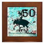 50th Birthday Framed Tile