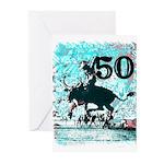50th Birthday Greeting Cards (Pk of 10)