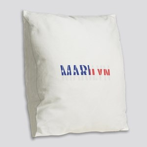 Marilyn Burlap Throw Pillow