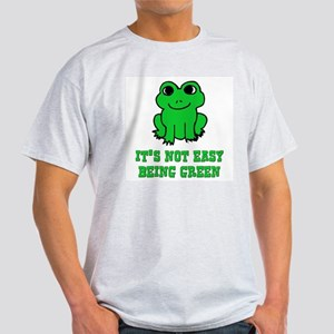 Not Easy Being Green Frog White T-Shirt