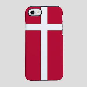 Danish Flag iPhone 7 Tough Case