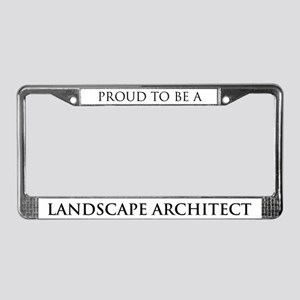 Proud Landscape Architect License Plate Frame